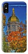 Notre Dame's Golden Dome IPhone Case