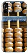 Old Chinese Abacus IPhone Case
