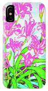 Pink Daily Lilies IPhone Case