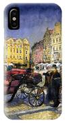 Prague Old Town Square IPhone Case