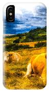 Resting Cows Art IPhone Case