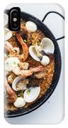 Seafood And Rice Paella Traditional Spanish Food IPhone Case