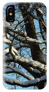 Snowy Trees Against A Blue Sky IPhone Case