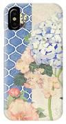 Summer Memories - Blue Hydrangea N Butterflies IPhone Case