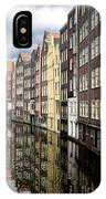 Traditional Canal Houses In Amsterdam. Netherlands. Europe IPhone Case