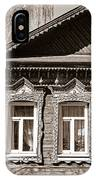 Traditional Old Russian House Facade IPhone Case