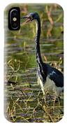 Tri-colored Heron IPhone Case