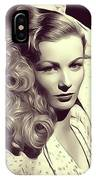 Veronica Lake, Vintage Actress IPhone Case