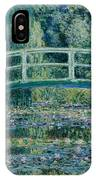 Water Lilies And Japanese Bridge IPhone Case