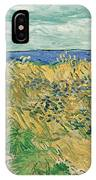 Wheat Field With Cornflowers IPhone Case