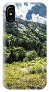 The White Pass And Yukon Route On Train Passing Through Vast Lan IPhone Case
