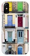 32 Front Doors Horizontal Collage  IPhone Case