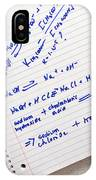 Laboratory Experiment In Science Research Lab IPhone Case