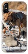 Duck And Goose Hunting Stock Photo Image IPhone Case