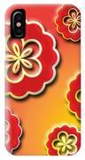 3d Digital Flowers IPhone Case