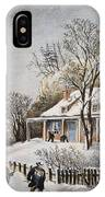 Currier & Ives: Winter Scene IPhone Case