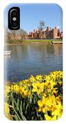 Daffodils Beside The Thames At Hampton Court London Uk IPhone Case