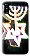 David's Menorah Jerusalem IPhone Case