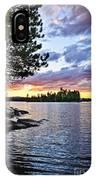 Dramatic Sunset At Lake IPhone Case
