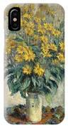 Jerusalem Artichoke Flowers IPhone Case
