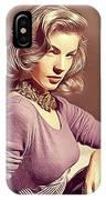 Lauren Bacall, Vintage Actress IPhone Case