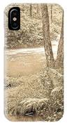 Mud Run Pocono Mountain Stream Pennsylvania IPhone Case