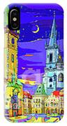Prague Old Town Square IPhone X Case