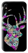 Reindeer Design By Snowflakes IPhone Case