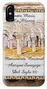 Santa Maria La Blanca Synagogue - Toledo Spain IPhone Case