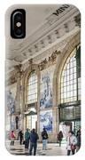 Sao Bento Railway Station Landmark Interior In Porto Portugal IPhone Case
