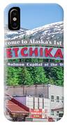 Scenery Around Alaskan Town Of Ketchikan IPhone Case