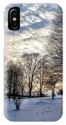Sunset Over Obear Park In Snow IPhone Case