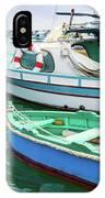 Traditional Boats At Marsaxlokk Harbor In Malta IPhone Case