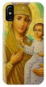 Virgin And Child Icon Christian Art IPhone Case
