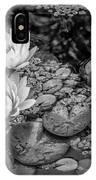 4445- Lily Pads Black And White IPhone Case
