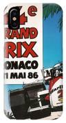 44th Monaco Grand Prix 1986 IPhone Case
