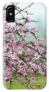 Blossoming Peach Flowers In Spring IPhone Case