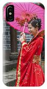 4503- Girl With Umbrella IPhone Case