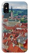 A View Of Cesky Krumlov In The Czech Republic IPhone Case