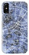 Berlin Germany City Map IPhone Case