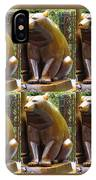 Bronze Statue Sculpture Of Bear Clapping Fineart Photography From Newyork Museum Usa Fineartamerica IPhone Case