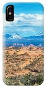 Canyon Badlands And Colorado Rockies Lanadscape IPhone Case