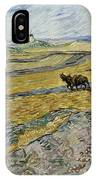 Enclosed Field With Ploughman IPhone Case