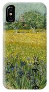 Field With Flowers Near Arles IPhone Case