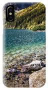 Green Water Mountain Lake Morskie Oko, Tatra Mountains, Poland IPhone Case