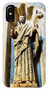 Interior Statue - San Xavier Mission - Tucson Arizona IPhone Case