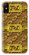 Iron Chains With Wood Seamless Texture IPhone Case