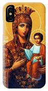 Madonna Enthroned Religious Art IPhone Case