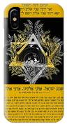 Son Blessing And Shema Israel In Hebrew IPhone Case