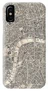 Vintage Map Of London England  IPhone Case